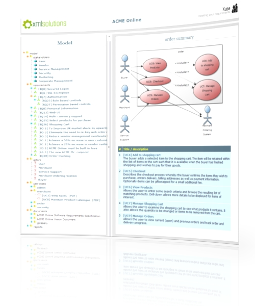 HTML Model view of xuse